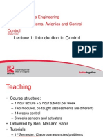 L1 - Introduction to Control