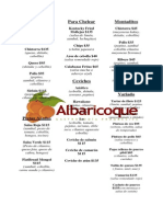 Menu Albaricoque 2013