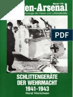 Waffen Arsenal - Band 179 - Schlittengeräte der Wehrmacht 1941-1943