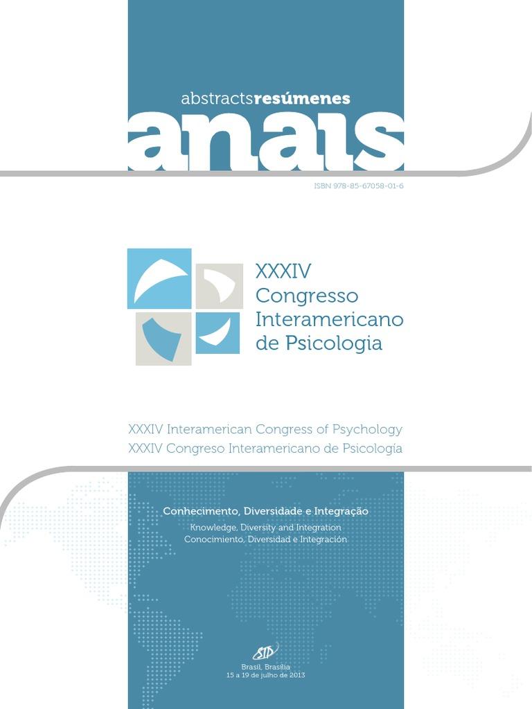 Xxxiv congreso interamericano de psicologa libro de resmenes fandeluxe Image collections