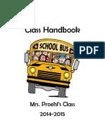 class handbook 2014