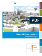 Daikin AC Price List 2013