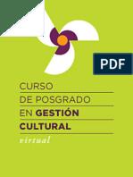 Presentación Curso en Gestión Cultural VIRTUAL 2014
