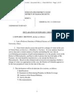 U.S. v. Tsarnaev, Declaration of Edward J. Bronson