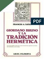 Yates-Giordano Bruno y La Tradicion Hermetica