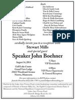 Speaker Boehner August 14