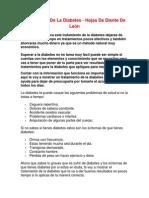 Tratamiento de La Diabetes - Hojas de Diente de León