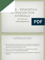Estimacion Por Intervalo