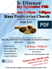 Knox Rib Dinner - Wed Sept 17, 2014