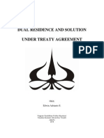 DUAL RESIDENCE AND SOLUTION UNDER TREATY AGREEMENT