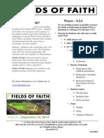 Fields of Faith Prayer