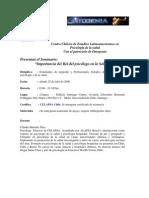 seminario importancia del rol del psicologo en salud