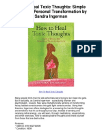 How to Heal Toxic Thoughts Simple Tools for Personal Transformation by Sandra Ingerman - 5 Star Review