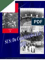 Sus Da Constituição a Lei 8080 Tela 41