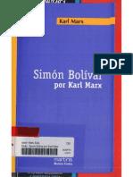 Simon Bolívar Por Karl Marx