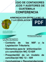 Armonización NIC12 Legislacion Tributaria