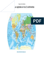 Paises y Sus Capitales en Os 5 Continentes