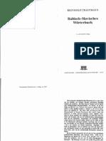Baltisch Slawisches Worterbuch - Trautmann