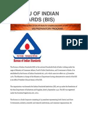 Bureau Of Indian Standards Technology Engineering Economies