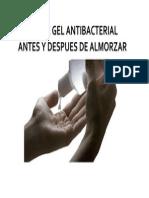 Utilice Gel Antibacterial