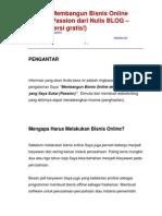 Sukses Membangun Bisnis Online Dengan Passion Cara Mendapatkan Uang Dari Internet eBook Tutorial Indonesia GRATIS B