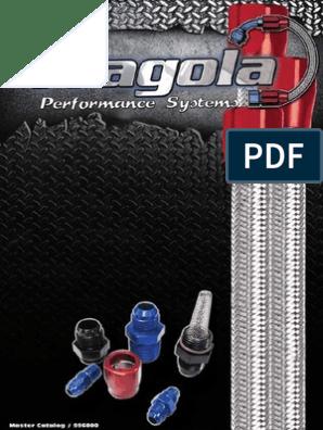 """Fragola Fitting Tube Sleeve 6AN 3//8/"""" Tube Aluminum Black Set 10 481906-BL-10"""