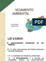Licenciamento Ambienal Aula