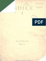 Índice (Madrid. 1921). 1921, n.º 1