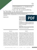 Estatus Sociometrico y Violencias Escolar en Adolescentes
