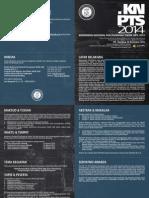 Brosur Dan Poster KNPTS 2014