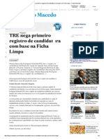 TRE nega primeiro registro de candidatura com base na Ficha Limpa - Fausto Macedo.pdf