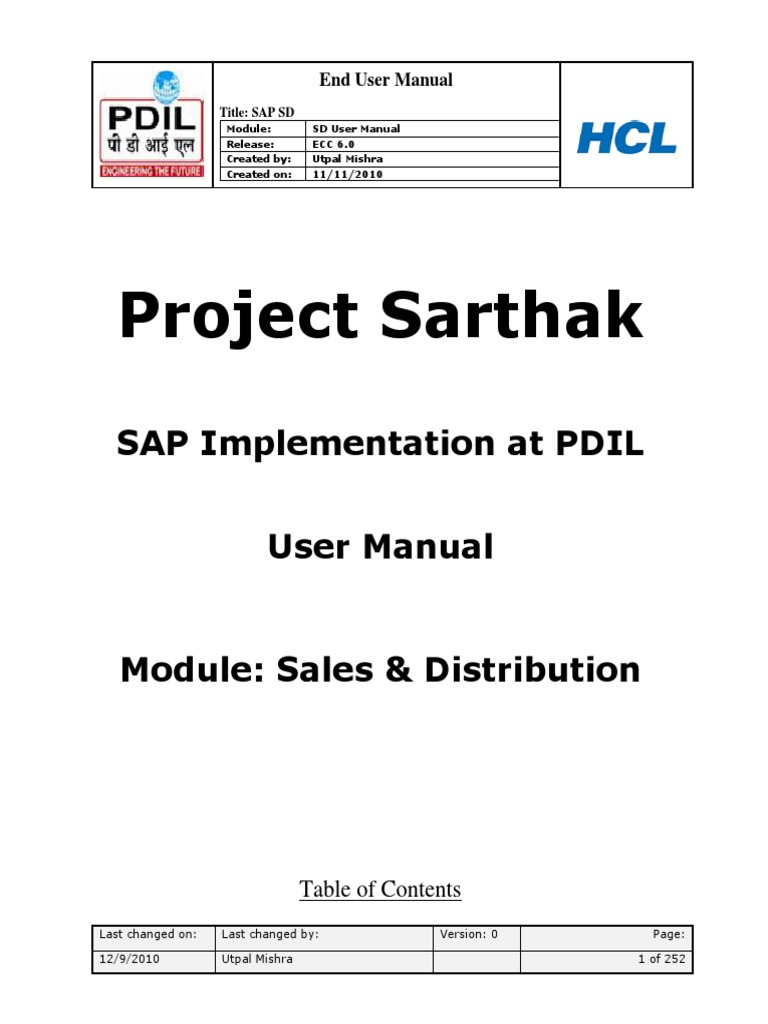 sap sd user training manual software computing rh scribd com sap end user manual for hr sap end user manual mm