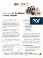 Strategic Thinker Issue 5.2009 - Strategize for the Future Not for the Present
