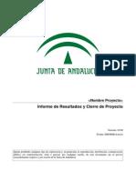 IRP[PROY] Informe Resultados y Cierre Proyecto