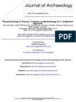 Hamilton Et Al 2006 Phenomenology in Practice. Towards a Methodology for a -Subjective- Approach