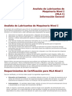 MLA I Information Spanish