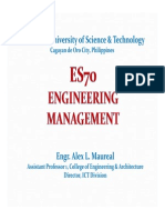 Introduction to Engineering Management