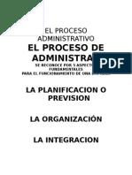 Unidad III El Proceso Administrativo