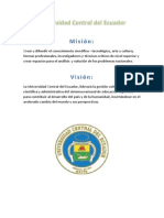 Universidad Central Del Ecuador Vision Mision