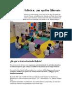 Diapositiva de La Educación Holista de Ramón Gallegos