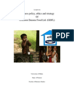 A report on Business Policy, Ethics and strategy Of Grameen Danone Food Ltd. (GDFL)