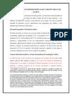 Características Sociodemográficas de La Región Urbana de Jalisco