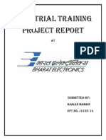 bharat electronics limited  training report