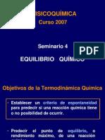 Seminario 4 - Equilibrio Químico