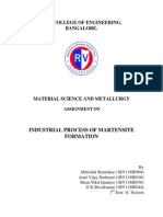 Industrial Process of Martensite Fornation Doc