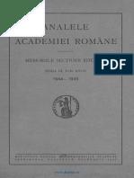 Analele Academiei Române. Memoriile Secţiunii Istorice. Seria 3. Tomul 27 (1944-1945)