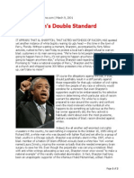 Al Sharpton's Double Standard
