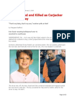 Boy Dragged and Killed as Carjacker Speeds Away