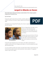 Carr Brothers Charged in Attacks on Seven Victims