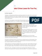 Canadian Hate Crime Laws Go Too Far Say Critics